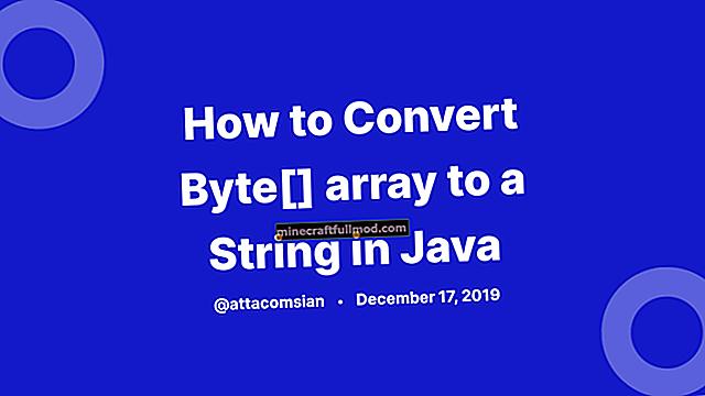 Tukar Array Karakter ke String di Java