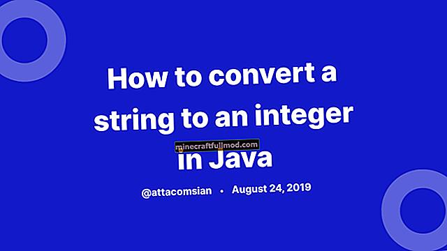 Tukarkan String ke int atau Integer di Java