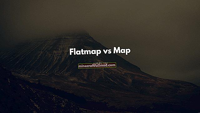 Perbezaan Antara peta () dan peta rata ()