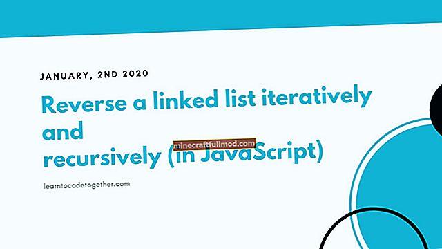 Membalikkan Senarai Terpaut di Java