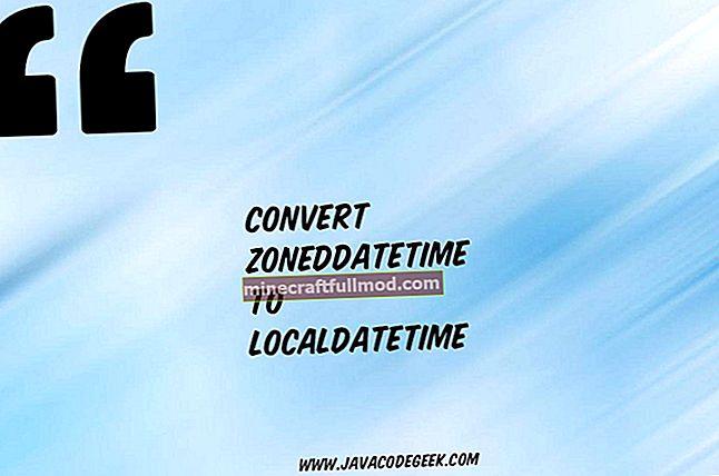 Tukar Tarikh ke LocalDate atau LocalDateTime dan Kembali