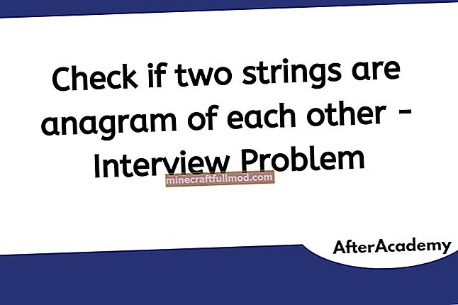 Periksa sama ada Two Strings adalah Anagrams di Java