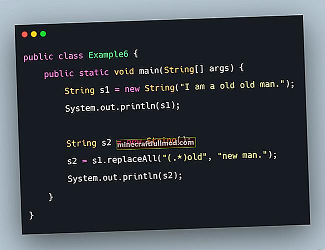 Keluarkan atau Ganti sebahagian String di Java