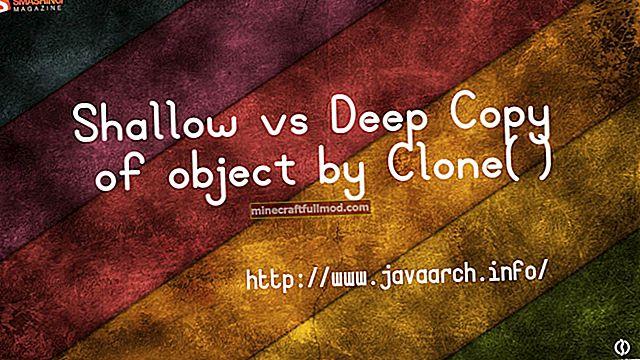 Как да направя дълбоко копие на обект в Java