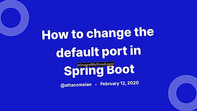 Як змінити порт за замовчуванням у Spring Boot