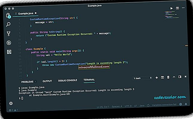 Създайте персонализирано изключение в Java