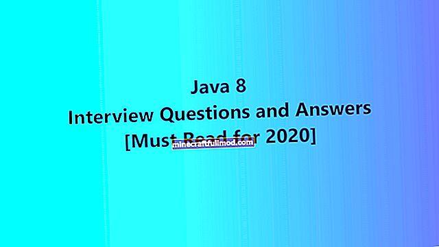 Въпроси за интервю за Java 8 (+ отговори)