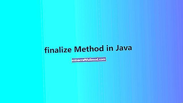 Ръководство за финализиране на метода в Java