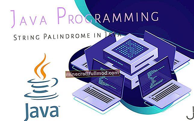 Проверете дали String е Palindrome в Java